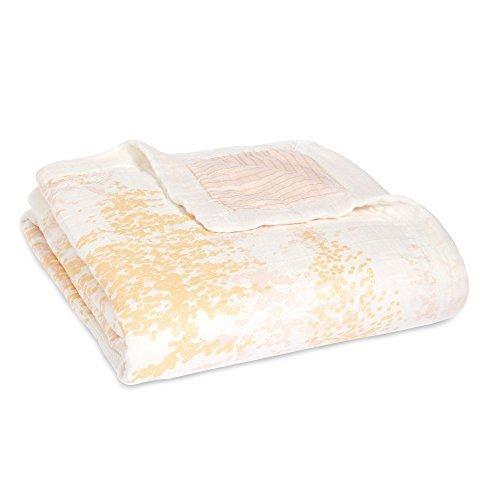 aden + anais silky soft dream blanket; metallic primrose birch