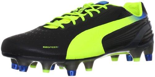 Puma evoSPEED 1.2Mixed SG Fußballschuhe Schwarz/Fluo Yellow/Brilliant Blue Mehrfarbig