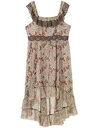 Women'S Mint Foxglove Crinkle Chiffon High Low Dress