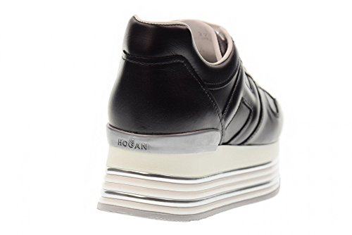 Hogan Frauen-Niedrige Schuhe mit Keil Turnschuhe HXW3460T548KLAB999 H346 Black