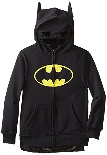 Cartoon Network Big Boys' Batman Costume Hoodie, Black, (Batman Hoodie Costume)