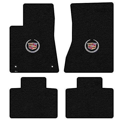 Lloyd Mats LogoMat Custom Floor Mats - Cadillac STS 2005-2011 4Pc Front & Back Set Carpeted Custom Fit Mats (Black) (No AWD or V Series)