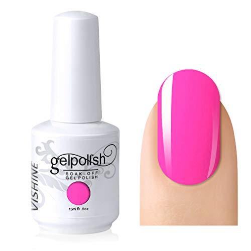 bright hot pink nail polish - 5
