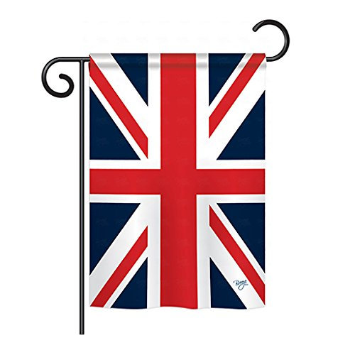 """Breeze Decor G158074 UK Flags of The World Nationality Impressions Decorative Vertical Garden Flag 13"""" x 18.5"""" Printed in USA Multi-Color from Breeze Decor"""