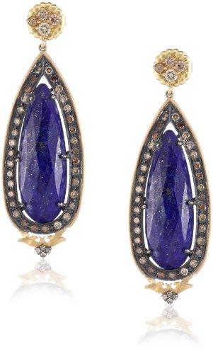 "Sara Weinstock ""Chandelier"" Large Lapis Victorian Drop Earrings"