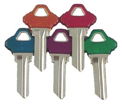 (SCHLAGE Kaba Ilco SC1-PC-ASSORTED Key Blanks Lockset, Asst'd Colors, 5-Pk. - Quantity)