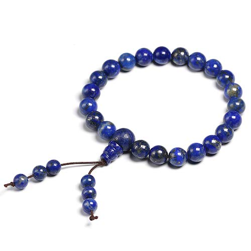 - FOKLC Bracelet Lapis Lazuli Bracelet Natural Stone 8mm Beads Men Women