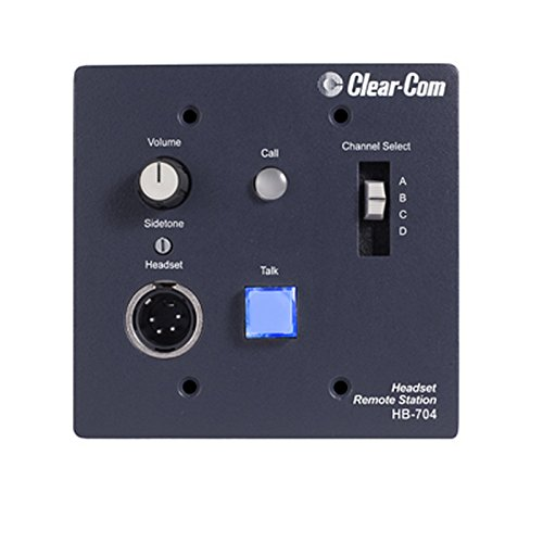 Clear-Com HB-704 | 4 Channel Wall Console Mounted Headset Station by Clear-Com