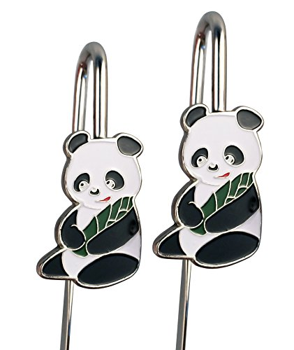 2 PCS Panda Hook Bookmark Letter Opener Stainless Steel, Beautiful Gift Box with Silver Printed Description for Birthday Gift