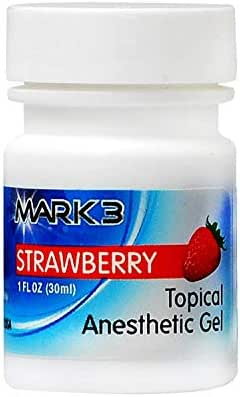 MARK3 Dental Topical Anesthetic Gel 20% Benzocaine Mint Flavor (Strawberry)