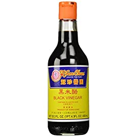Koon Chun Black Vinegar 1 Made of fermented rice, wheat, barley, and sorghum Used as a basic ingredient in many Chinese kitchens Has a mild sweet and tart taste that will attribute a sharp full flavor to any dish
