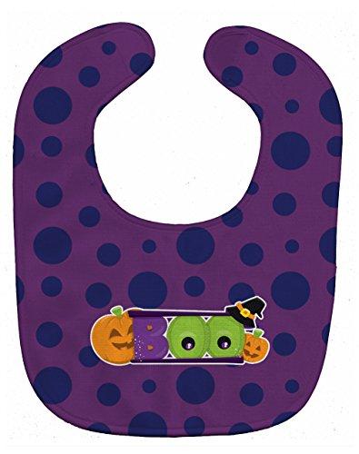 Caroline's Treasures Halloween Boo Baby Bib, Purple, Large]()