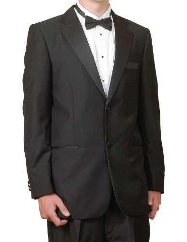 New Mens Super 100's 2 Button Single Breasted Black Tuxedo Suit