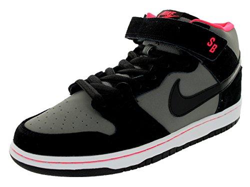- NIKE Men's Dunk Mid Pro SB Black/Blk/Md Bs Gry/Lsr Crmsn Skate Shoe 9.5 Men US