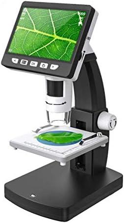 4.3インチディスプレイ1080 P 1000 Xデジタル顕微鏡充電式リチウム電池ポータブルハンドヘルド顕微鏡カメラ観察修理子供学生クリスマス