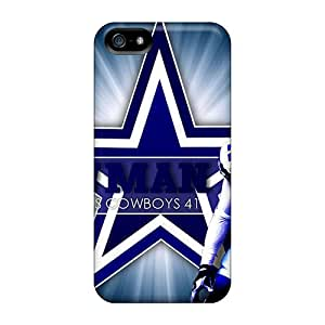 Scratch Resistant Cell-phone Hard Cover For Iphone 5/5s With Allow Personal Design Colorful Dallas Cowboys Pictures DustinFrench