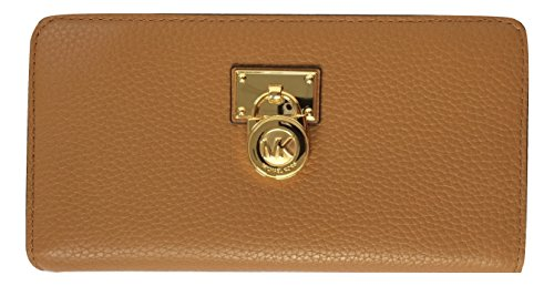 Michael Kors Hamilton Traveler Large Zip Around Leather W...