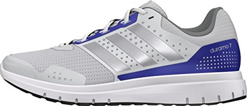 adidas Duramo 7 W - Zapatillas para mujer, color blanco / plata / azul, talla 44