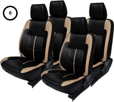 Khushal Leatherite Tata Tiago Car Seat Cover Front And Back Seat Covers Set With Free Steering Cover B01h3meglq