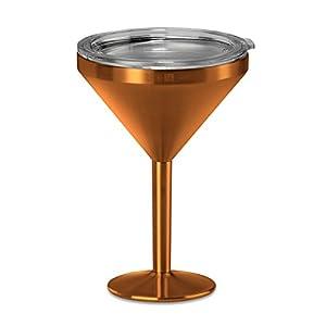 True North Insulated Martini Glass (Jewel Copper)