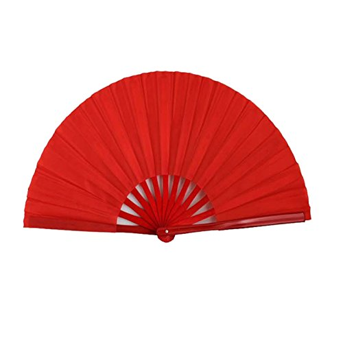 Bamboo-bone-Fan-Chinese-Traditional-Fantai-Chi-Fanchinese-Kung-Fu-Fanmartial-Arts-Performance-Hand-Fan-Red-Color