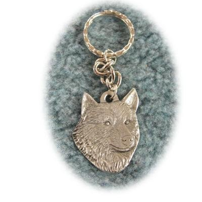 Rawcliffe Pewter Key Chain I Love My Norwegian Elkhound ()