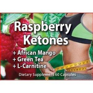 Framboise cétones 500 mg. avec mangue africaine, le thé vert et la L-carnitine, 60 capsules