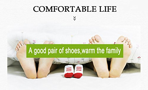 Flax Home Blue Memory Stripe Slipper Soft House Open Slipper Couple Light Slipper Niceful Indoor Cotton Cozy Toe Bottom Antiskid Foam Unisex 8xRRqpw5
