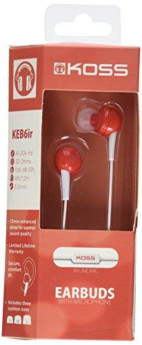 Koss Earbud Headphones Red SRSKEB6IR