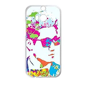 Generic for HTC One M8 Cell Phone Case White Running Man Custom SDFNJHFSD5333