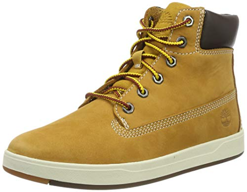 Timberland Davis Square 6 Inch Boot Wheat Nubuck 4 M US Big Kid