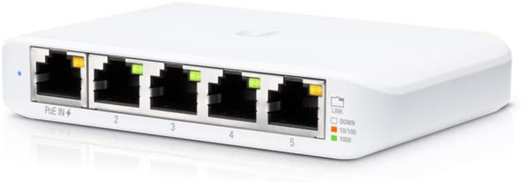 Ubiquiti USW-Flex-Mini UniFi Switch Compact Gigabit 5-Port 802.3af/at PoE