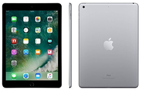 Apple iPad with WiFi + Cellular, 32GB , Space Gray (2017 Model) (Certified Refurbished)