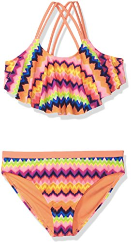 Angel Beach Big Girls' Swim Moondance Bikini Set, Multi, 14