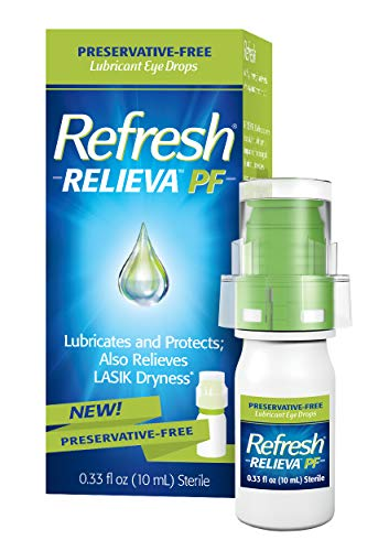 Refresh Relieva Preservative-Free Lubricant Eye Drops 0.33 Fl Oz (10ml) Sterile