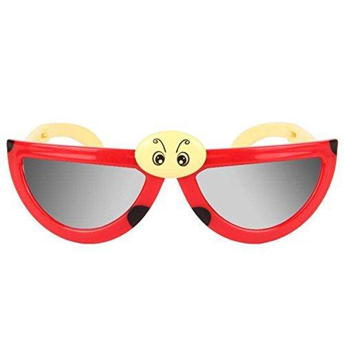 Emorefun Toys 1PCS Cute Cartoon Ladybug Shaped Foldable Children Sunglasses Random Color - Sunglasses Bug