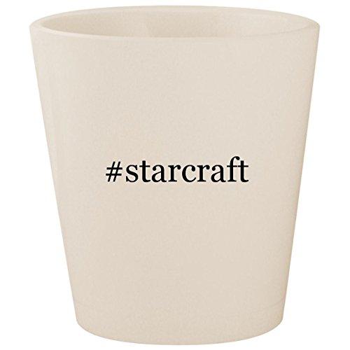 #starcraft - White Hashtag Ceramic 1.5oz Shot Glass ()