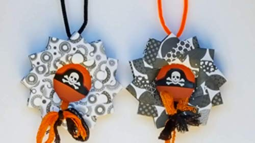 Origami Indoor Halloween Decoration Wreath WIth -