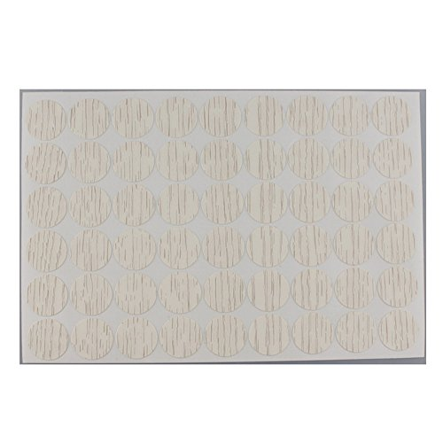 MyLifeUNIT Home Office Screw Holes Cover Caps Stickers (1 Sheet 54 Caps) (White Maple Wood) ()