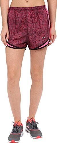 [Nike Womens Canopy Tempo Shorts Hyper Pink/Black/Reflective Silver Shorts MD X 6] (Reflective Running Shorts)