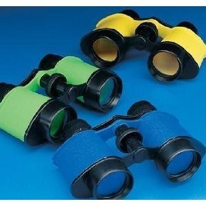 12 Plastic Kids Binoculars, Asst Colors, Party Favors, Pretend Play by Fun Express