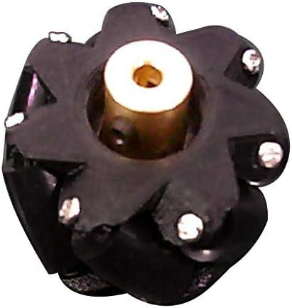 Homyl 3/4/5/6 / 7mm W/マルチカラーを装備したカップリング付きオムニホイールメカナムホイール - ブラック