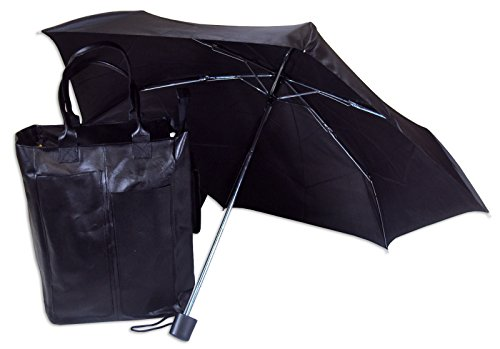 capezio-black-bonded-leather-shopping-tote-with-matching-umbrella
