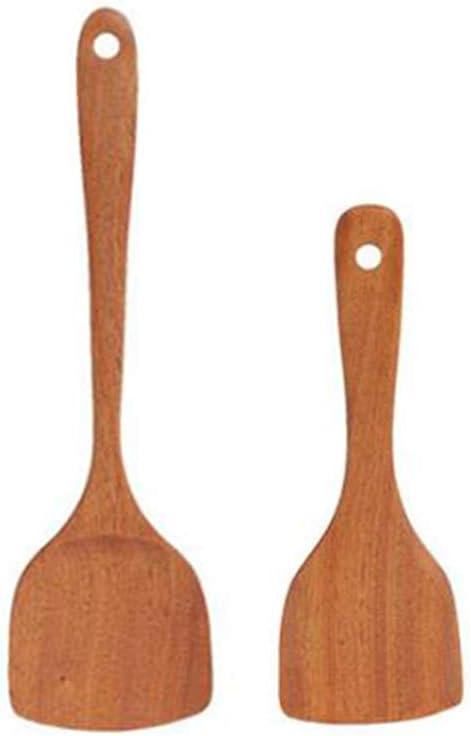 Long Handle Wooden Cooking Rice Spatula Scoop Kitchen Non-stick Shovel Utensil