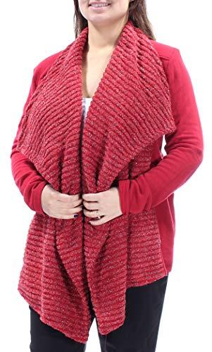 Lucky Brand Womens Wool Blend Flyaway Cardigan Sweater Red XL