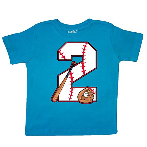inktastic Baseball Second Birthday- Two Years Old Toddler T-Shirt 2T Turquoise