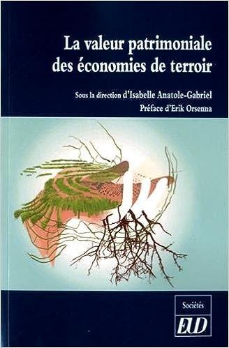 Amazon Fr Valeur Patrimoniale Des Economies De Terroir