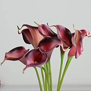 "Outtop 10 Heads 11.8"" Calla Lily Artificial Flowers Bouquets Fake Flower for Home and Wedding Decoration 2"
