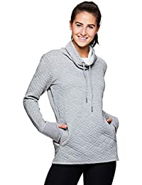Active Women's Ultra-Soft Quilted Cowl Neck Pullover