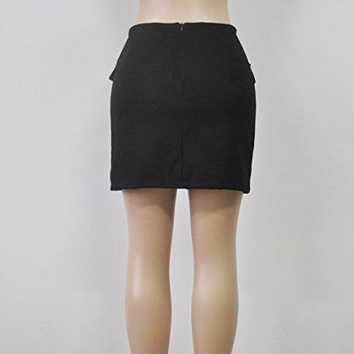 Package Simple Jupes Noir Unie Couleur Cocktail Femme Hanche Moulante Jupes Elegante Jeune Party de Fashion Mini Traverser Bandage Jupe Fashions Court ffR5nqp